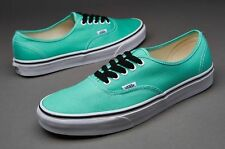 Vans AUTHENTIC (Biscay Green/True White) Men's Skate Shoes Size 11.5