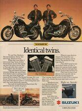 1987 Suzuki Intruder 700 / VS700GL - Identical Twins - Vintage Motorcycle Ad