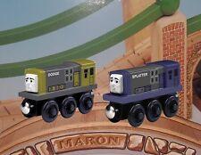 THOMAS & FRIENDS WOODEN RAILWAY ~ DODGE & SPLATTER ~ 2011 SEPARATES ~ RARE HTF!