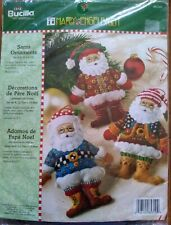 Bucilla Mary Engelbreit Santa Ornaments Felt Applique Kit #85310 New