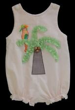 Girls SECRET WISHES Orange Seersucker PARROT & PALM TREE Bubble Romper 24m 2 2T