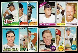 1965 1966 1967 1968 OPC O PEE CHEE TOPPS MLB BASEBALL CARD SEE LIST