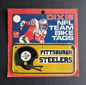 Pittsburgh Steelers 1970's NFL Bicycle License Plate