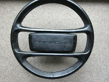 Porsche 944 Turbo 951 Black Leather OEM Genuine Steering Wheel 944.347.084.09