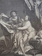 GRAVURE XVIII° JOSEPH FEMME NUE ANGE AMOUR JUDAICA BIBLE CIGNANIE MASON 1730