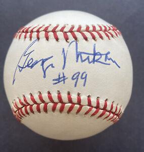 George Mikan Single Signed Auto Baseball JSA Certified