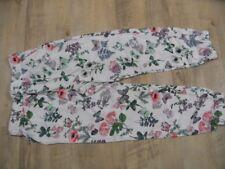H&M schöne bunte Ballonhose creme Schmetterlinge Blumen Gr. 116 TOP KSo118
