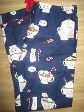 NEW* PJ SALVAGE FLANNEL Pants Pajamas Sz XL Sleep $42 RV Blue Party Time Cocoa