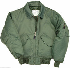 GREEN BOMBER FLIGHT JACKET MA2    water repellent AIR FORCE beat the cold