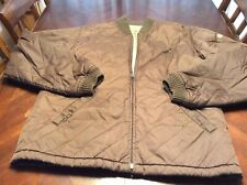 Mens Brown Quilted Volcom Workwear Zip Up Jacket Size L