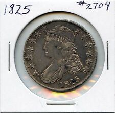 1825 50C Capped Bust Silver Half Dollar. Circulated. Lot #2478