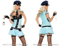 NEW Coquette Sexy Police Girl Costume w/Accessories Halloween Party M/L