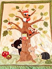 Lambs Ivy Toddler Baby Crib Bed Woodland Forest Quilt Comforter Hedgehog Owl Fox