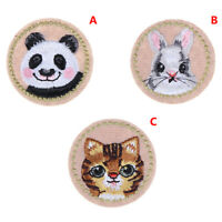 1PC Animal Patch Panda Rabbit Cat Embroidery Iron on Patch Sewing Stickers_ti