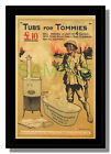 Tubs for Tommies Empress Club 1916 framed repro poster Gawthorn free p&p UK