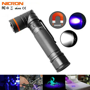 Nicron 395nm UV Light Rechargeable LED Tactical Flashlight 18650 Blacklight Lamp