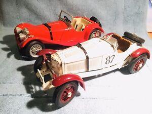 Pack Burago Mercedes Ssk Jaguar Ss 100 1:18 Maqueta Coleccion 1937