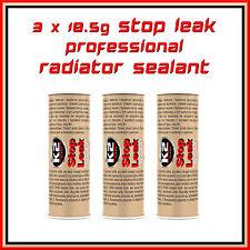 3 x 18.5g Radiator Sealant Pro Cooling System Additive Stop Leak Anti Corrosion