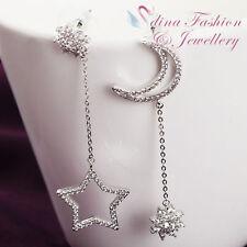 Diamond White Gold Simulated Fashion Earrings