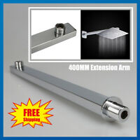 "16"" Rain Shower Head Arm Stainless Steel Water Extension Pipe Arm Wall Mounted"