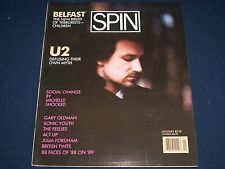 1989 JANUARY SPIN MAGAZINE - U2 COVER - GREAT PHOTOS - J 1355