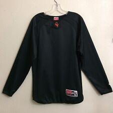 "RAWLINGS CV 42"" Chest Men's S Black Fleece Lined Long Sleeve Shirt"