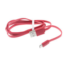 Red 3Ft Flat Micro Usb Cable Fast Charger Sync Cord Power Wire For Cell Phones