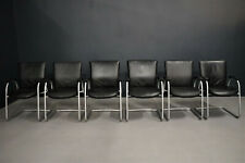 Interstuhl 8 x Konferenz-Besucherstuhl Ataros 570 Leather Black Cantilever