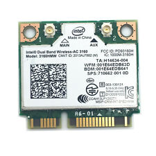 Intel Dual Band Wireless-AC 3160 3160HMW+Bluetooth 4.0 up to 433 Mbps 802.11 ac