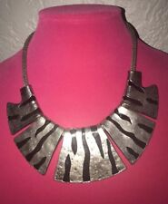 ☆ZEBRA☆ STYLE SILVER/BLACK NECKLACE UNIQUE FASHION JEWELRY HIGH-QUALITY PRODUCT☆