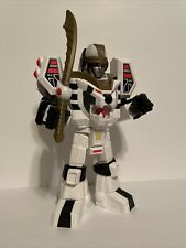 "Imaginext Power Rangers 11"" White Ranger Warrior Mode Tigerzord w/ sword"
