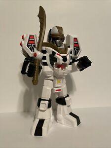 """Imaginext Power Rangers 11"""" White Ranger Warrior Mode Tigerzord w/ sword"""