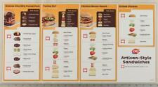 Dairy Queen Poster Plastic Artisan Sandwich Instructions 11x22 dq2