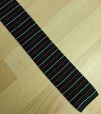 Vintage striped knitted flat end tie 5cm