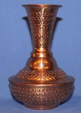 Albanian Folk Hand Made Ornate Copper Vase