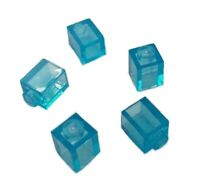 5x Genuine LEGO Part 35382 Transparent Translucent Light Blue 1x1 Brick Block