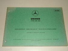 Teilekatalog Ersatzteilliste Mercedes Benz Unimog Motor Typ OM 314,  07/1969