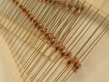 100x Miniature De-Coupling Capacitor 0.1uF=104=100nF 50v X Mil Axial Ceramic 514