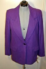 Kristen Blake Purple Egyptian Merino Wool  Jacket  Women`s sz L Made in USA