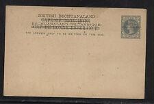 British  Bechuanaland overprinted on postal card  unused         MS0821