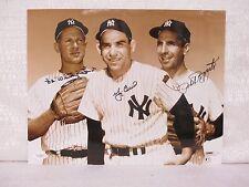 Whitey Ford Yogi Berra Phil Rizzuto New York Yankees Signed 11X14 Photograph JSA