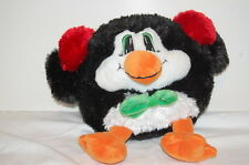 "Winter Penguin Red Ear Muffs Green Tie 13"" Plush Dan Dee  Stuffed Animal Lovey"