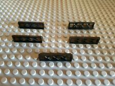 5x Lego 1 x 4 Lattice Fences - in black