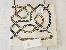 Tory Burch Rope Neckerchief, New Ivory, 100% Silk, Never Removed From Package