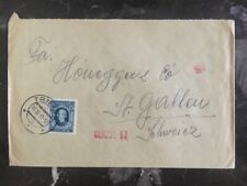 1941 Trnava Slovakia Local Censored Cover To Switzerland