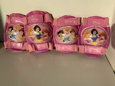 Disney Princess Pink Protective Gear Size 4-8 Adjustable 2 Knee 2 Elbow Pads Usa