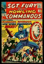 Marvel Comics SGT. FURY And His Howling Commandos #13 CAPTAIN AMERICA GD+ 2.5
