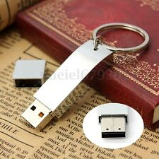 32 G GO GB CLE USB 2.0 Métal Mémoire Flash Drive Storage Porte-clés Pr Win 7/8