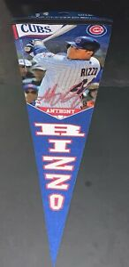 """Anthony Rizzo Chicago Cubs 12"""" x 30"""" Premium Pennant FREE SHIPPING ."""
