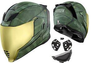 Icon Airflite Battlescar 2 Motorcycle Extreme USA Spoiler Visor Or Accessories
